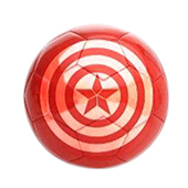 Stag Captain America Football Red and White Size 5