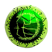Stag The Hulk Football Green and Black Size 5