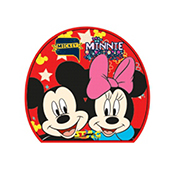Stag The Mickey and Minnie Mouse Table Tennis Racket and Ball Combo