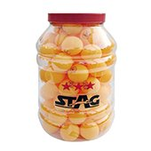 Stag Three Star Table Tennis Ball  Orange Set of 96 Balls