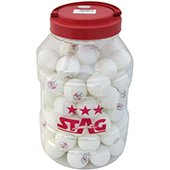 Stag Three Star Table Tennis Ball White Set of 96 Balls