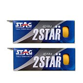 Stag Two Star Table Tennis Ball Orange Set of 12 Balls