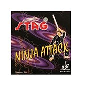 Stag Ninja Attack Table Tennis Rubber Black