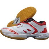 Thrax C1 Max Badminton Shoes White and Red