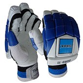 THRAX Duro 11 Cricket Batting Gloves Blue and white