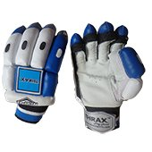 THRAX NEO 11 Cricket Batting Gloves White Black and Blue