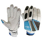 Thrax Limited Edition Batting Gloves White Blue and Black Right Hand