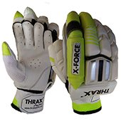 THRAX X Force Cricket Batting Gloves White and Black