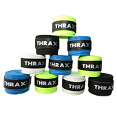 Thrax PU Based Super Foam Breathable Badminton Grip Set of 10 Assorted Colour