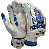 Thrax Ultimate Cricket Batting Gloves White Black and Blue