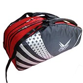 Thrax Pro series Badminton Kit Bag Black and Red