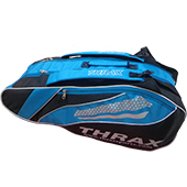 Thrax Badminton Kit Bag Black and Blue