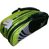 Thrax Pro series Badminton Kit Bag Green and Black