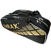 Thrax Revo Badminton Kit Bag Black and Golden