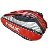 Thrax Professional Badminton Kit Bag Red Black