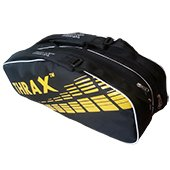 Thrax Revo Badminton Kit Bag Black and Yellow