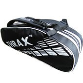 Thrax Revo Badminton Kit Bag Black and White
