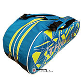 Thrax PX01 Badminton Kit Bag Blue Black and Lime