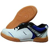 Thrax Max Court Badmiton Shoe White and Blue