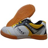 THRAX Max Court Volleyball Shoes White and Yellow