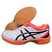 Thrax Gel Extreme Badminton Shoe White Black and Red