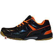Thrax Furious Badminton Shoe Black and Orange