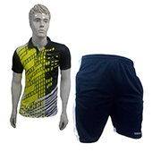 Offer on Thrax badminton shorts Black and White  and Thrax Badminton T Shirt Black and Yellow  Size X Larze