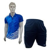 Offer on Thrax badminton shorts Black and White and Thrax Badminton T Shirt Blue and White Size Larze