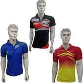 Trio Pack Of  Thrax Badminton T Shirt Size Large