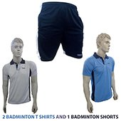 Combo Offer Thrax 2 Badminton T shirt and Shorts Size Large 1