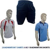 Combo Offer Thrax 2 Badminton T shirt and Shorts Size Medium