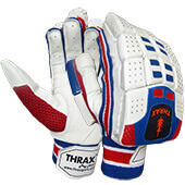 Thrax Azure Cricket batting Gloves Blue Red