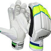 Thrax Matrix Cricket Batting Gloves White Lime