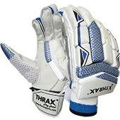 Thrax AD001 Cricket Batting Gloves RH White Blue