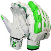 Thrax Aura X1 Cricket Batting Gloves White Green