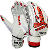 Thrax AD001 Cricket Batting Gloves RH White Red