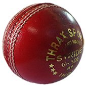 Thrax Stride Red Cricket Balls 3 Ball Set