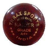 Thrax Raider Grade A Plus Plus Red Cricket Ball 3 Ball Set