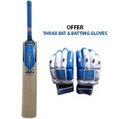 Offer on Thrax Duro 11 Natured Willow Cricket Bat and Thrax Neo 11 Batting Gloves