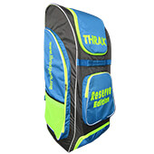 Thrax Reserve Edition Cricket Kitbag Grey Sky blue and Lime