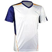 Thrax Sublimation Custom Made Cricket T Shirt White with Gray Line Size large