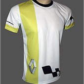 Thrax Sublimation Custom Made Round Neck Cricket T Shirt White and Lime Size large