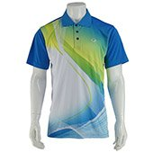 Thrax Sublimation Custom Made Cricket T Shirt Color Neck Blue with White Line Size large