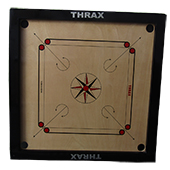 Thrax Turbo Carrom Board Full Size with Coins and Striker