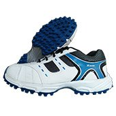 Thrax Wave Stud Cricket Shoes White and Blue