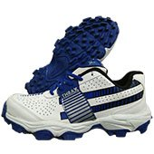 Thrax Pure Grip Stud Cricket Shoes White and Blue
