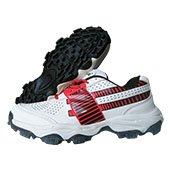 Thrax Pure Grip Stud Cricket Shoes White and Red