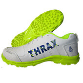 Thrax Strider Cricket Shoes White Lime