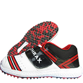Thrax Dragger Stud Cricket Shoes Red and White