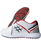 Thrax Cloud 7 Stud Cricket Shoes Red and White